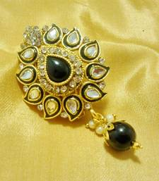 Buy Designer Black CZ Saree Pin Brooch brooch online