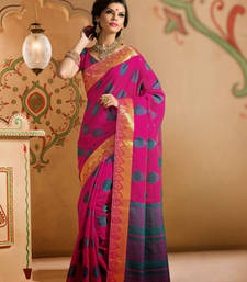 Buy Pink Zari silk saree with blouse banarasi-silk-saree online