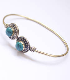 Buy Turquoise Agate Bangle Bracelet online