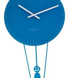 Buy 8145bl-FLYING TIME Funky Blue Clock with Pendulam wall-clock online