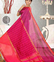 Buy Pink woven dupion silk saree with blouse dupion-saree online