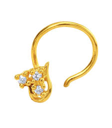 Buy Gold Plated Le Beau Nosepin with CZ for Women nose-ring online