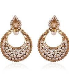 Buy Touchstone Gold Plated Jewellery Earrings For Women danglers-drop online