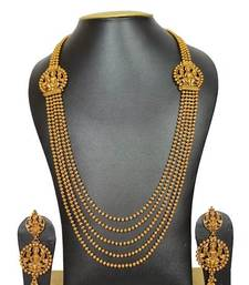 Buy golden colour ethnic necklace set necklace-set online