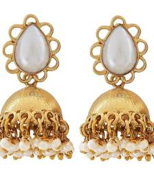 Buy Indian Bollywood Jewelry Modern Pearl Jhumki Earrings White jhumka online