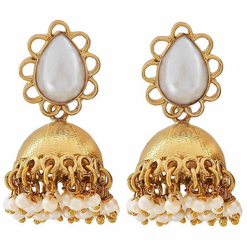 Modern Jewelry Design Ideas: Buy Indian Bollywood Jewelry Modern Pearl Jhumki Earrings