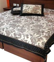 Buy Desigander Jaipuri Gold Priandt Double Bed Sheet bed-sheet online