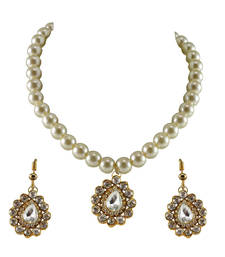 Buy Gold Platted Brass Necklace necklace-set online