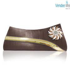 Buy Vendee Lifestyle Brown Shiny Clutch (7366) clutch online