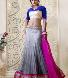 Buy Pink embroidered Net  lehenga-choli lehenga-choli online