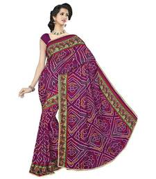Buy Multicolor printed art-silk saree with blouse navratri-sarees-nine-day online