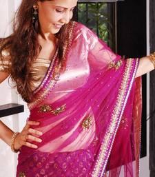 Buy Magical Wine Chanderi Sari chanderi-saree online