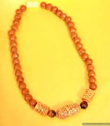Buy Brown Onyx Traditional Pattern Necklace Necklace online