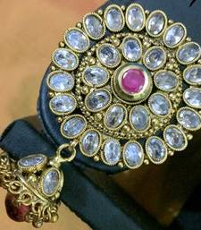 Buy Ethnic Indian Bollywood Fashion Jewelry Set Zircon Hair Brooch hair-accessory online