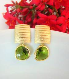 Buy Chic Green Stud Earrings stud online