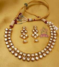Buy Kundan Meena Elegant Necklace eid-jewellery online