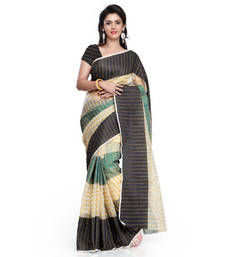 Buy multicolor printed art_silk saree with blouse ethnic-saree online