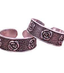 Buy Story Of The Rose Silver Toe Rings Other online