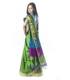 Buy Green Raw Silk Saree silk-saree online
