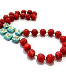 Buy Red & Turquoise Agate Necklace gemstone-necklace online