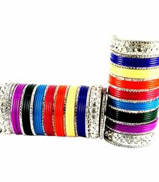 Buy Extra Large size Brass and Acrylic Bangle Color Multicolor bangles-and-bracelet online