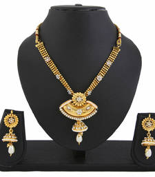 Buy Diva Gold Plated Necklace Set necklace-set online