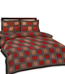 Buy Multi-Color Chequered Double Bedsheet n Pillow Covers 249 duvet-cover online