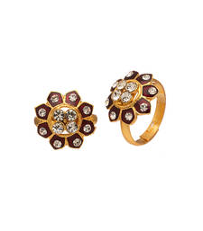 Buy Exquisite Flower Design Pair Of Toe RIngs With Jewellery online
