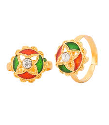 Buy Pair Of Pretty Meenakari Toe Rings Jewellery online