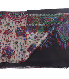 Buy Hand-made Multi Coloured Silk Blend Shawl shawl online