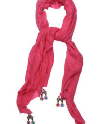 Buy Hand-made Flamingo Pink Coloured 100% Pure Pashmina Shawl shawl online