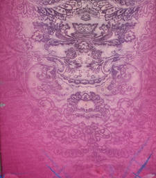 Buy Hand-made Bubble-gum Pink Coloured Silk Blend Shawl shawl online