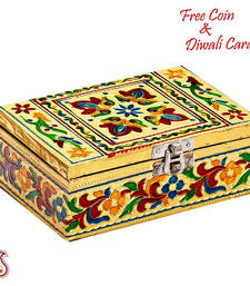 Buy Rectangular Shaped Floral Print Multiutility Box wedding-gift online