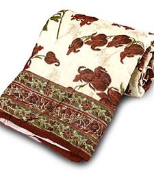 Buy Floral Hand Block Cotton Single Bed Razai Quilt Deepawali Gift 104 razai online