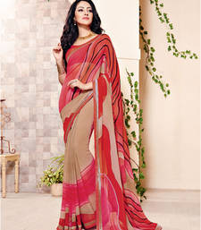 Buy Multicolor printed Georgette saree with blouse heavy-work-saree online