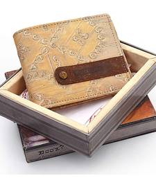 Buy Gents Designer Genuine Leather Beige Color Wallet Diwali Gift 172 Bag online