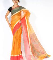 Buy Kota Doria fancy printed pallu saree kota-silk-saree online