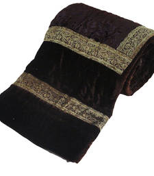 Buy Jaipuri Dark Brown Double Bed Velvet Quilt -404 razai online