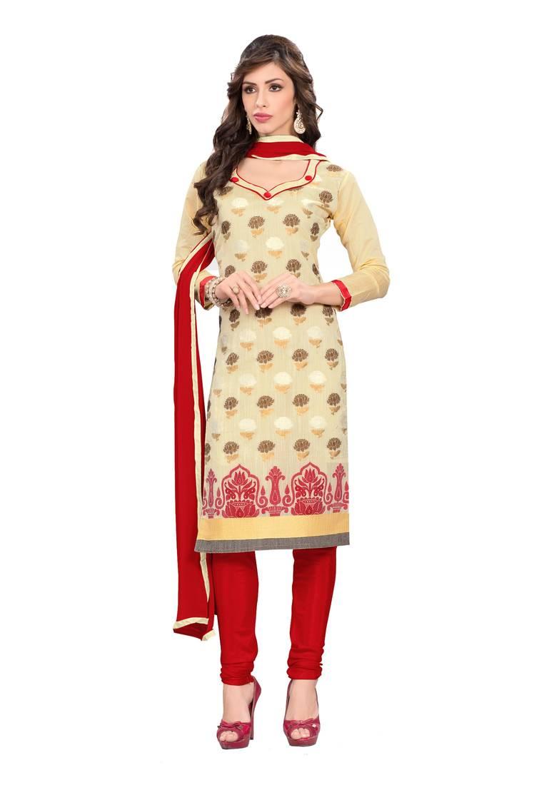 Banarasi silk dress material online shopping