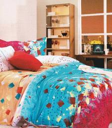 Buy Multicoloured Abstract Printed Luxury Flat Bedsheet from Just Linen bed-sheet online