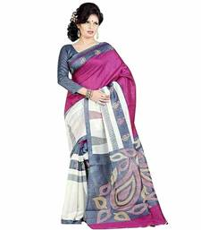 Buy Pink color art Bhagalpuri silk saree bhagalpuri-silk-saree online