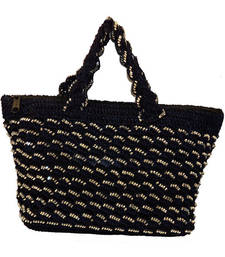 Buy Sequins Crochet Small Handbag | Navy Blue handbag online