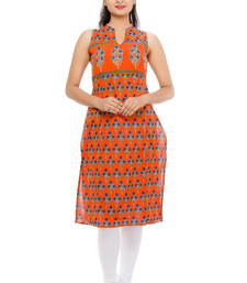 Buy Straight Fit Sleeveles Cotton Kurta cotton-kurti online