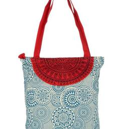 Buy Accrue blue and red Tote with semicircle tote-bag online