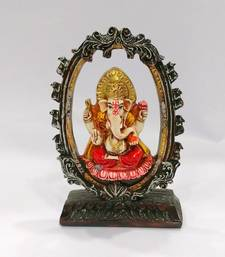 Buy Arch Lotus Ganesha idol Resin Material Multicolor religious-item online