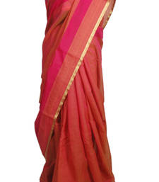 Buy Pink Chanderi Cotton Saree chanderi-saree online