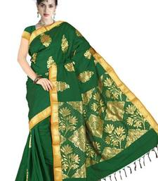 Traditional Latest Ethnic Silk Zari Green Color Saree PS174A shop online