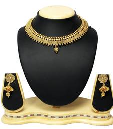 Buy Gold Plated Traditional Ethnic Bridal Necklace & Earrings Set Indian Jewellery necklace-set online