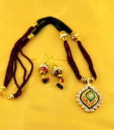 Buy moti mala mangalsutra with earing  mangalsutra online