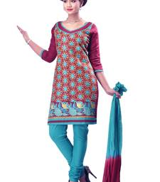 Buy multicolor Cotton Embroidered Unstitch Salwar Suit dress-material online